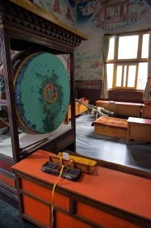 Gong, Jangchub Choeling Monastery Pokhara, Nepal,