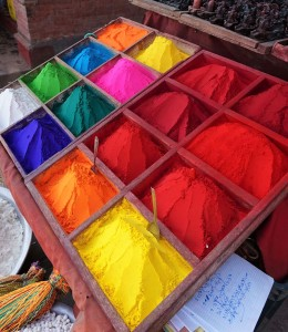 beautiful colors, pigments of Katmandou, Nepal